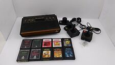 1981 ATARI 2600 6 Switch Light Sixer Console System LOT 10 Games Controllers