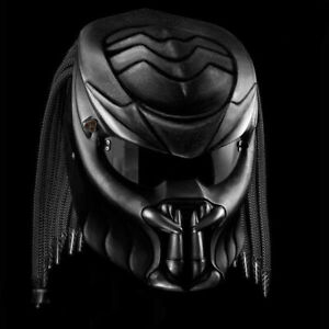 NEW PREDATOR MOTORCYCLE HELMET BLACK MAMBA STYE (DOT & ECE APPROVED)