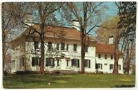 Postcard Morristown NJ Washington's Headquarters Mansion New Jersey 1980's