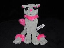 MARKS AND SPENCER PUSSY CAT SOFT TOY GREY PINK KITTY COMFORTER DOUDOU