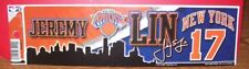 JEREMY LIN NEW YORK KNICKS #17 WINCRAFT BUMPER STRIP STICKER DECAL