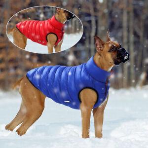Dog Winter Coat Jacket Reversible Dog Vest Waterproof Pet Apparel Winter Clothes