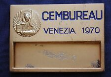 DISTINTIVO PIN BADGE PASS VINTAGE CEMBUREAU VENEZIA 1970 ASS.NE CEMENTO EUROPEO