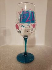 Lolita 21st Birthday 20 ounce Wine Glass-  Hand Painted!