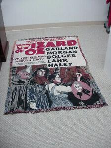 Vintage Wizard Of Oz Throw Blanket Tapestry 63in x 43in Movie Poster Memorabilia