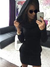 Vestiti da donna in misto cotone, con collo a cappuccio taglia XL