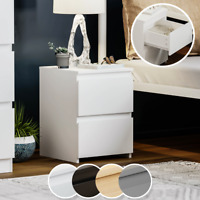 Modern 2 Drawer Chest of Drawers Bedside Table Nightstand Bedroom Furniture