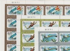 Topical Stamps - Full Sheets (18 Different) - Mint