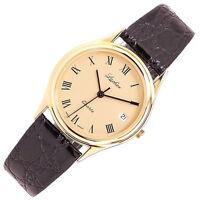 Elegante LACHER Armbanduhr, Made in Germany, Datum, vergoldet, NEU, NOS, K084