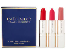 Estee Lauder Love Travel Exclusive 3 Pure Color Love Lipsticks Set - New