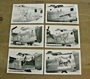 Vintage Postcards Nose Art Spring 1944 Aviation Airplane Black & White UNPOSTED