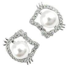Modischer Ohrschmuck mit Perlen (Imitation)