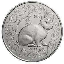 Pièce 5 euros argent - Année du lapin - 2011