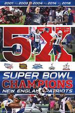 New England Patriots SUPER BOWL LI CELEBRATION 5X CHAMPS Commemorative POSTER