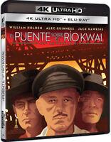 El puente sobre el Río Kwai , Blu-Ray 1 disco (No disco 4k) Audio Latino
