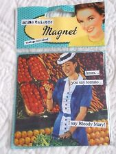 ANNE TAINTOR FRIDGE MAGNET YOU SAY TOMATO I SAY BLOODY MARY VINTAGE REVISITED