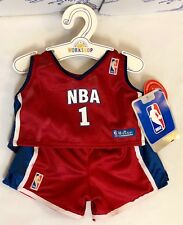 New Build a Bear Clothes Boy Outfit Red White Blue Nba Basketball No. 1 Set Lot