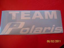 """4""""X 9"""" (NEW White Vinyl) TEAM Polaris STICKER"""