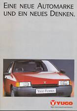 Yugo Prospekt 1990 Florida Cabriolet 65 EFI brochure Autoprospekt Auto PKWs
