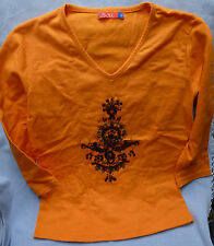 "T-shirt  - von ""os:aix""  orange  - Gr. S"