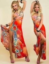Damen Maxi Kleid One Shoulder Abendkleid Damenkleid (34/36)