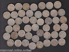 47 Coins MINT SET - 1972 1973 .. 1981 1984 .. 1990 - 25 Paise Copper Nickel