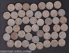 47 Coins MINT SET - 1972 1973 .. 1981 1984 .. 1990 - 25 Paise Copper Nickel