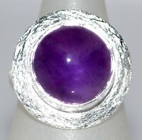 Purple Amethyst Sterling Silver Ring 925 Solitaire Gemstone Sizes 5 1 2 L To 12