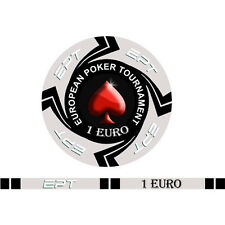 Blister da 25 fiches EPT CASH GAME  Replica poker Ceramica 10 gr. valore 1 EURO