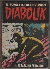 DIABOLIK prima serie N.6 ingoglia L' ASSASSINO FANTASMA originale 1963 1a I