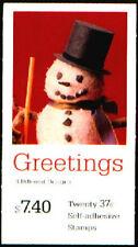 3688-91 Bk293 Christmas Snowman Vending Unopened Po Fresh Mint Nh