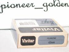 new VIVITAR 43 mm polarizing filter w/case in a box