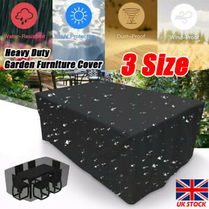 Waterproof BBQ Furniture Cover Rattan Table Cube Outdoor Garden Patio Heavy Duty