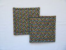 Glittery Small  Easter Eggs Quilted Coaster, Trivet,Pot Holders,Hot Pad-Set of 2