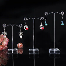 3 x Acrylic Metal Tree Earring Necklace Jewelry Display Stand Rack Holder Set