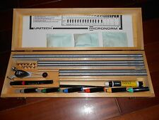 Lettering System Professional Grade Lettering System With Wood Case / - Lot853