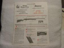 Stevens Savage Fox 67-67-T 67Vr-67Vr-T catalog