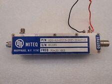 Miteq Microwave RF Power Amplifier 70+20 MHz