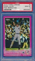 2015 Topps Chrome #1 PINK REFRACTOR Parallel Derek Jeter Yankees PSA 10 GEM MINT
