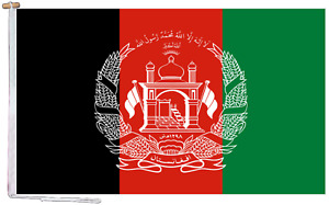Afghanistan Flag With Rope and Toggle - Various Sizes