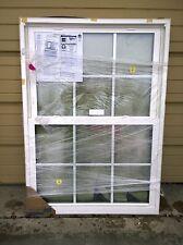 NEW: Nice Jeld-Wen BROWN & WHITE VINYL Double-Hung Home WINDOW 47