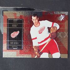 GORDIE HOWE  2009/10 UD SPx #88  Detroit Red Wings  HOF  Mr. Hockey