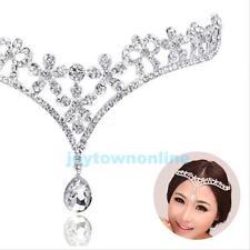 Wedding Bridal Jewelry Crystal Forehead Band Frontlet Drape Headpiece Tiara New