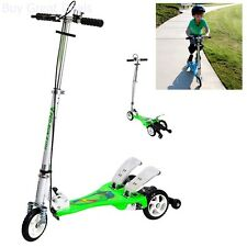 Kick Scooters Bike Rassine Kid's Ped-Run Dual Pedal Scooter, Green