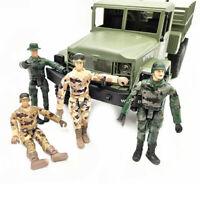 4x Special Forces Puppe Modell Spielzeug Für WPL RC Auto Military Truck Zierteil