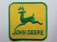 JOHN DEERE CLASSIC TRACTOR FARMING EMBROIDERED IRON-OR SEW ON PATCH UK SELLER