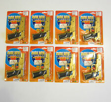 "8 NEW GOLD TOY CAP GUNS 7"" POLICE PISTOL DETECTIVE REVOLVER FIRES 8 RING CAPS"