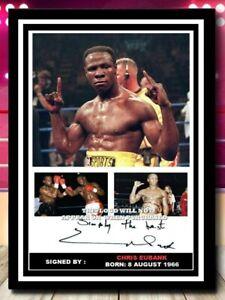 (515) chris eubank boxing legend  signed photograph unframed/framed reprint @@@@
