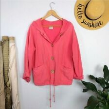 New listing Vintage 80s 90s Oversized Pink Coral Cotton Jacket S Baggy y2k