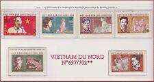 VIETNAM du NORD N°697/702** Ho Chi Minh..... 1970 North Vietnam 600-605 MNH